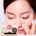 3 Colors Eyeshadow Natural Waterproof Make Up Eye Shadow Makeup Palette Beauty Accessories For Sale