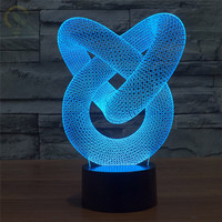 Novelty USB Touch 3D LED Light 3D Night Lights Beautiful Decoration For Room Hotel House Gifts Lampen