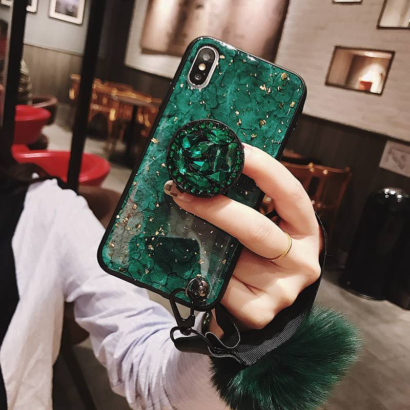 Luxury Diamond Marble Glitter Phone Cases for iPhone X XR XS MAX 7 8 6s Plus Luxury Diamond Marble Glitter Phone Cases for iPhone X XR XS MAX 7 8 6s Plus holder Ring Silicon Cover For iPhone XR XS