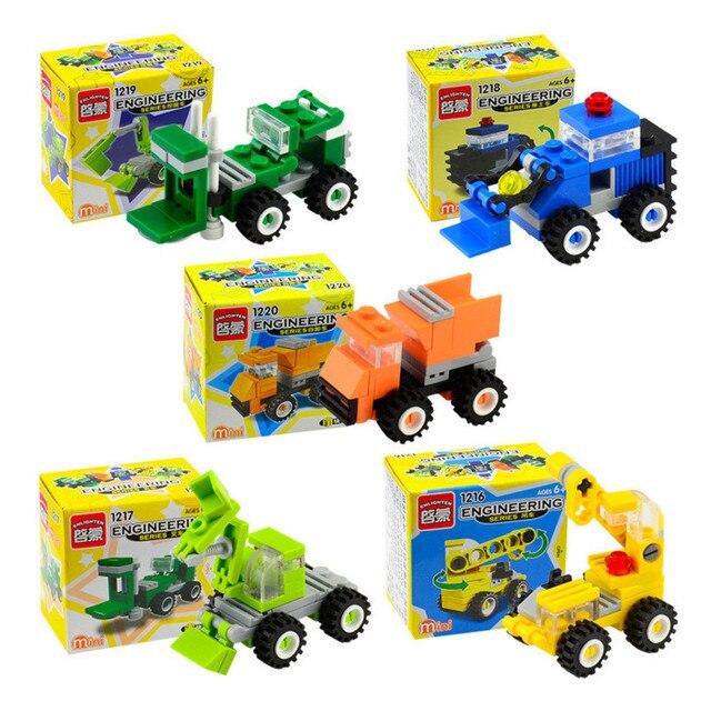 ENLIGHTEN City Mini Engineering vehicles Crane Forklift Blocks