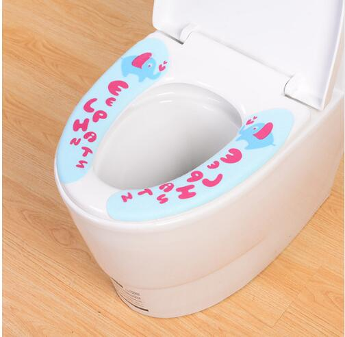 plastic toilet seat covers. Cartoon hello kitty My Melody Elephant Panda Plastic Toilet Warmer sticky  Washable Self adhesive Seat Cover in Covers from Home Garden on