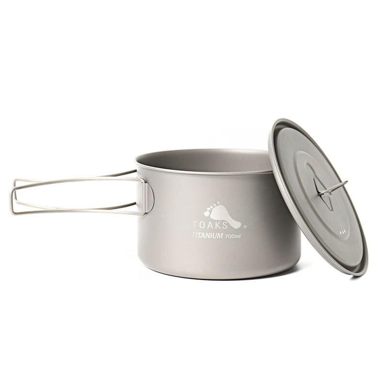 TOAKS Outdoor Titanium Pot 900ml 700ml Lightweight Camping Cooking Cookware