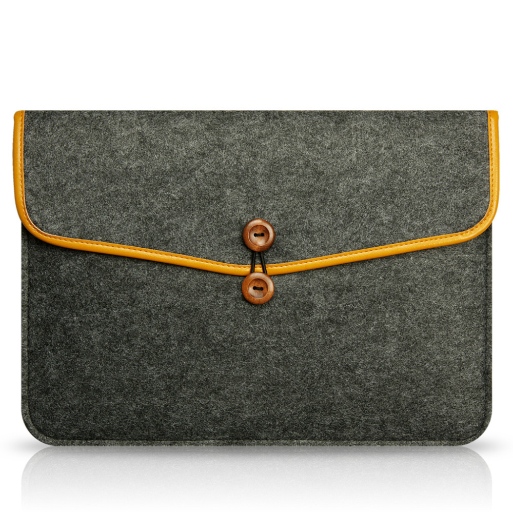 High Quality Notebook Laptop Wool Felt Sleeve Bag for Macbook Air 13.3 Protective Case C ...