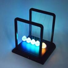 LanLan Luminous Newton Swing Ball romantic Night Light Toy Pendulum Grass Ball Creative Home Desktop Decoration Children Gift(China)