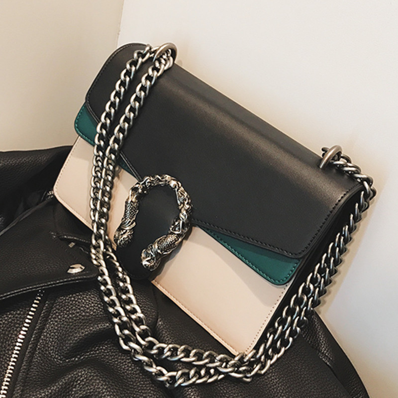 Luxury Brand Women Chain Messenger Bags Leather Shoulder Bag Chain Handbag Clutch Purse  ...