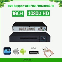 16 Channel 5 IN 1 DVR 1080P AHD/CVI/TVI/IP DVR 1920*1080 2MP CCTV Video Recorder Hybrid DVR NVR HVR 5 In 1 Security AS AVR3416M