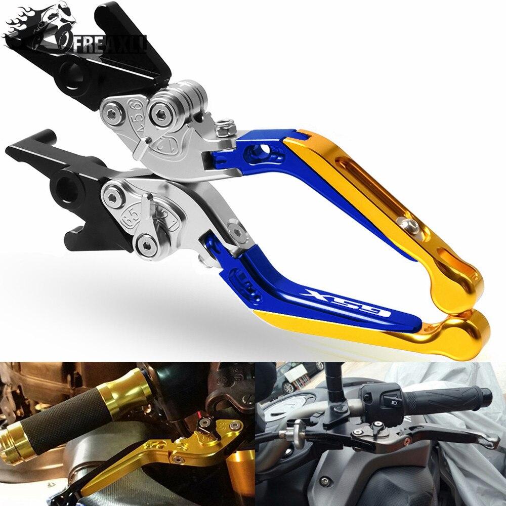 Pour Suzuki GSX1250F/SA/ABS 2010-2016 GSX1400 GSX650F extensible pliant réglable CNC en aluminium freins embrayage moto