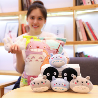 8pcs plush totoro toys in one bag simulation food soft pillow totoro pudding toys for children creative gift for girlfriend