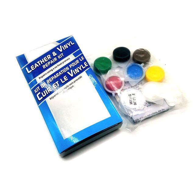 No Heat Liquid Leather & Vinyl Repair Kit Fix Holes Burns Rips ...