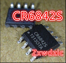 5PCS CR6842S SOP-8 CR6842 SOP8 New IC 5pcs tlv5618aidr sop8 tlv5618 sop ty5618 smd digital to analog converters new and original free shipping