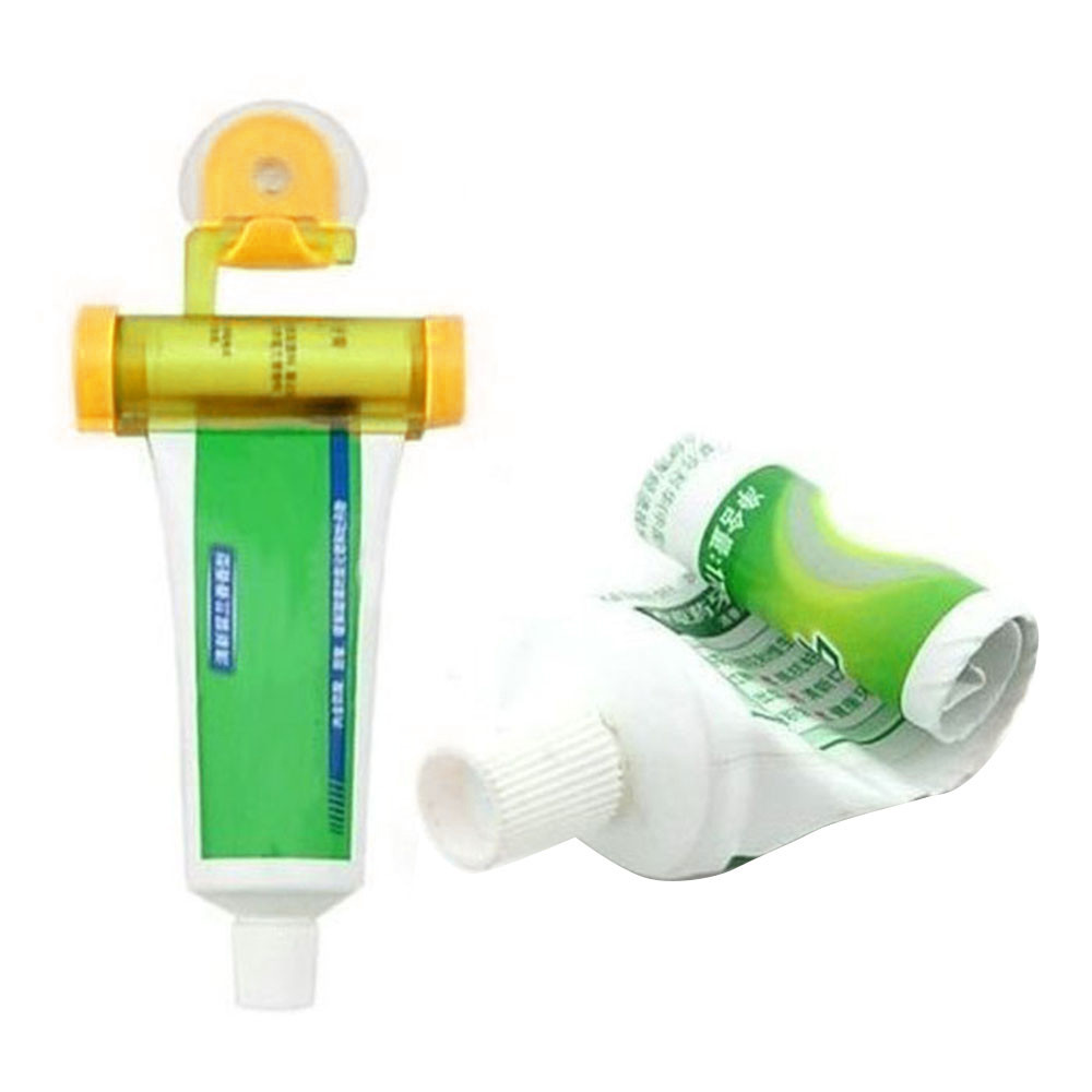 Convenient Easy To Use Bathroom Rolling Squeezer Toothpaste Dispenser Tube Sucker Hanging Holder Dispensador Pasta Dental A60