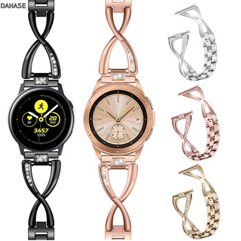 20mm 22mm Bling Diamond Metal Strap For Samsung Gear Sport S2 S3 Galaxy Watch 42mm 46mm Active Band Amazfit Bip Huawei GT 2 Band