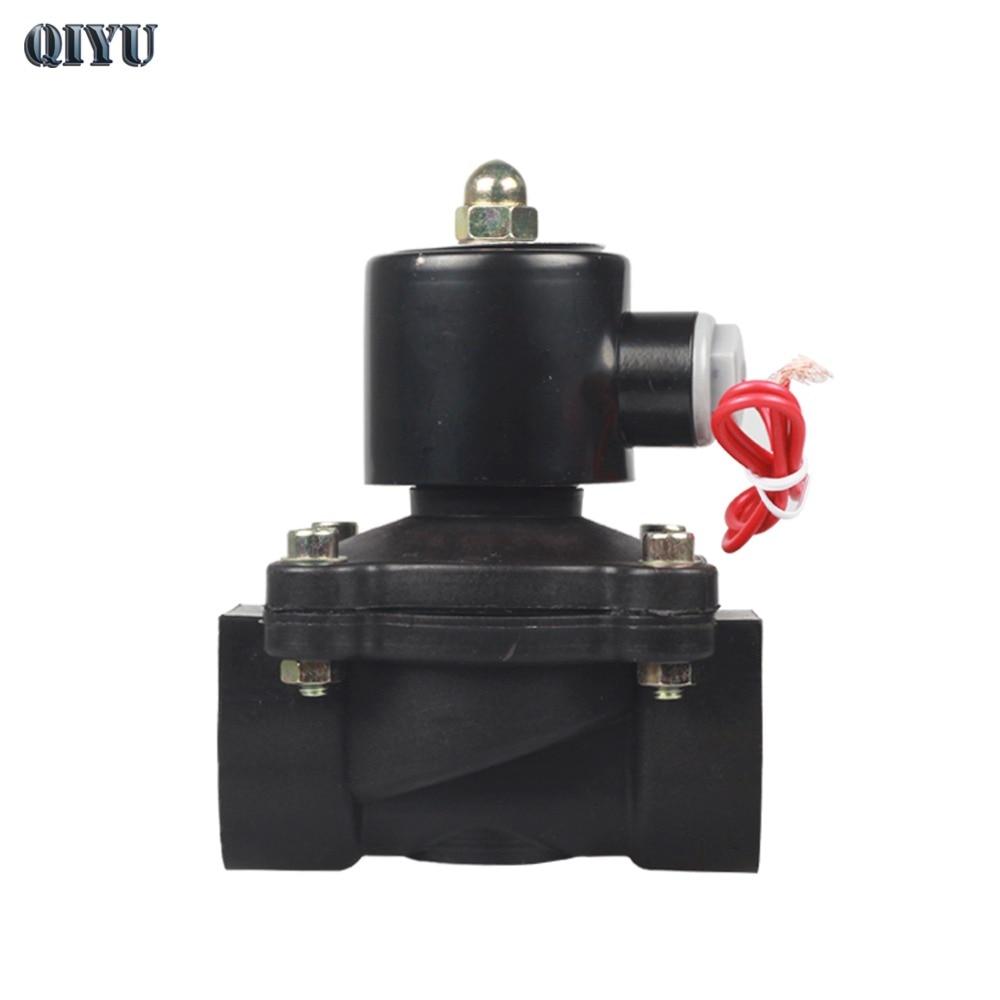 DN25 G1 AC 110V AC 220V DC 12V DC 24V Plastic electric solenoid valve, on-off valve, control valve, corrosion resistance 4v series 24v dc solenoid valve