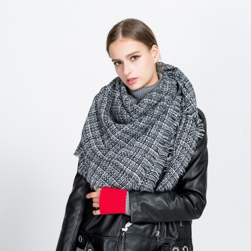 f6e809ea248e7 Luxury Brand Autumn Winter Fashion Scarf Women Solid Color Cashmere Warm  Scarves Shawl Large Size Fashion Scarf Female-in Women's Scarves from  Apparel ...