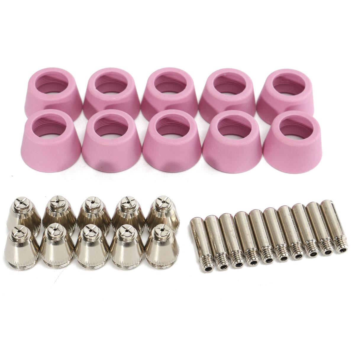 30PCS Plasma Cutter Torch Electrodes Tips Nozzles Cup For SG-55 AG-60 Accessory