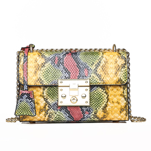 HIFAR Snake Bag For Women Fashion Shoulder Small Chain Messenger Crossbody Serpentine Leather Flap 2019