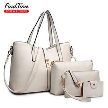 FIND TIME Ladies Shoulder Bag Woman Fashion New Large-capacity Solid Color Mobile Phone Bag Certificate Bag PU Woman Handbag Hot