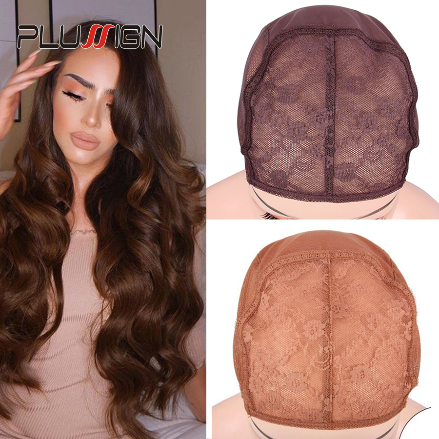 Wholesale 10Pcs Soft Breathable Wig Cap For Making Wigs Best Wig Net Double Lace Front Wig Cap With Adjustable Strap Mesh Cap