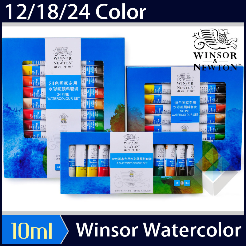 Watercolor Paint 12/18/24 Color Student Beginner Painting Sketch Tube Tube Transparent Watercolor Paint Art Supplies