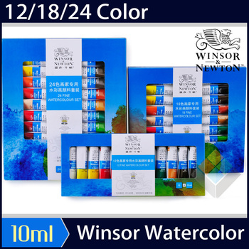 цена на Watercolor paint 12/18/24 color student beginner painting sketch tube tube transparent watercolor paint Art Supplies