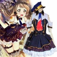 Lovelive/Love Live! escuela idol cosplay blue beach dress despertar idolatrado traje uniforme de policía cs38599