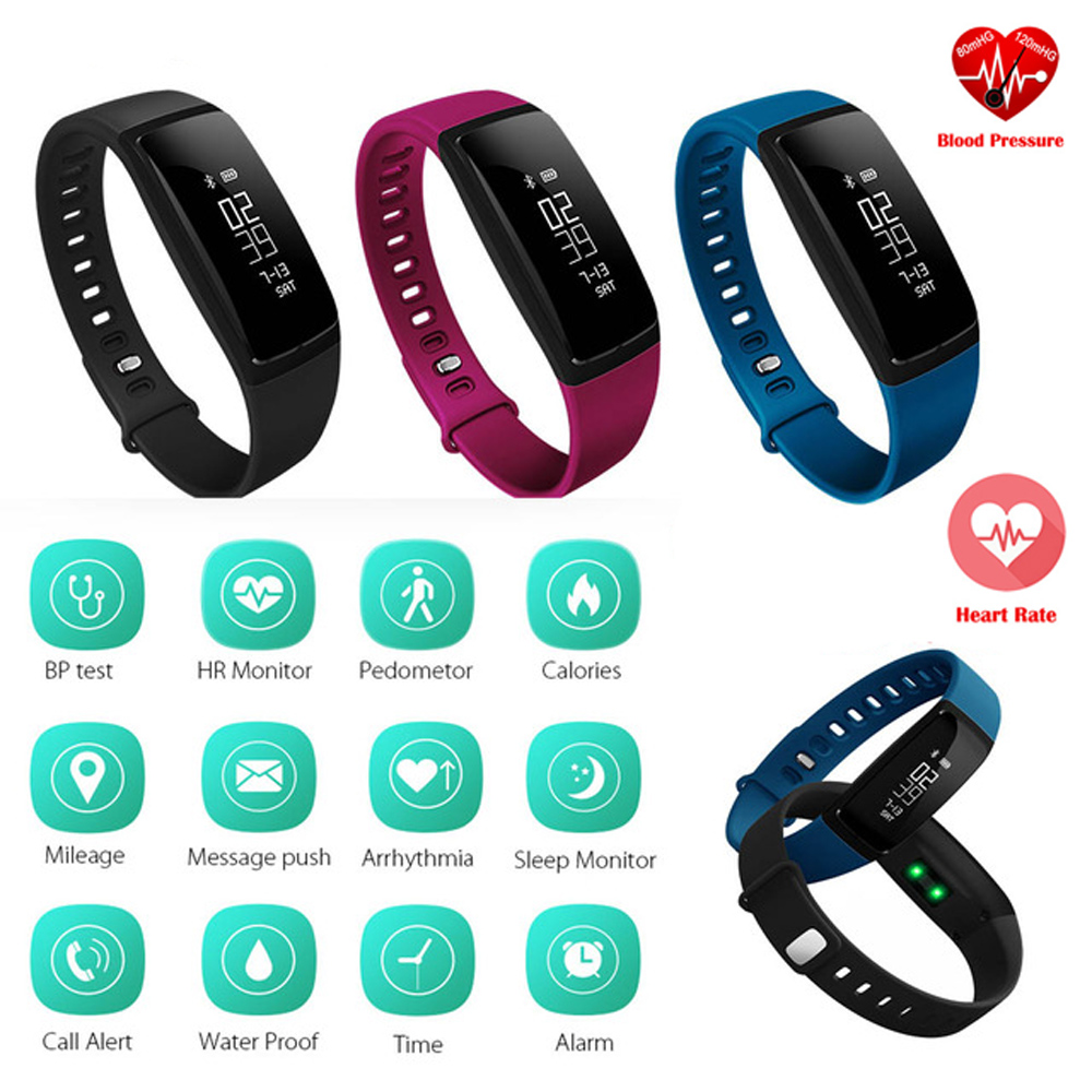 imágenes para Cicret inteligente Podómetro Banda LED Gimnasio Rastreador Inteligente Pulsera Heart Rate Monitor de Presión Arterial Salud Pulsera Inteligente Android