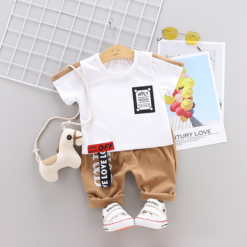 Baby Boy Summer Letter Clothes Set 2019 New Children Clothing Casual Short Sleeve Shirt Boys Suit For Kids ClothesBaby Boy Summer Letter Clothes Set 2019 New Children Clothing Casual Short Sleeve Shirt Boys Suit For Kids Clothes