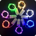 10 Unids/lote 2 M 20 LEDS Con Pilas LLEVÓ Las Luces Al Aire Libre Luces de Hadas de Cuerda Lámparas Para La Decoración De Navidad de Alambre de Cobre para el Hogar