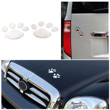 7cm x 6cm 3D Dog Paw Footprint PVC car stickers decal dog bear cat animal foot print sticker Car styling auto motorcycle decor(China)