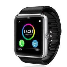 GT08 Reloj inteligente Bluetooth Salud Desgaste Androide Smartwatch DZ09 GV18 PK Gimnasio Relojes Reloj de La Cámara Del Teléfono Móvil A Prueba de agua