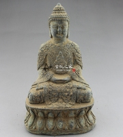 China old bronze Collections from the countryside Buddha statue