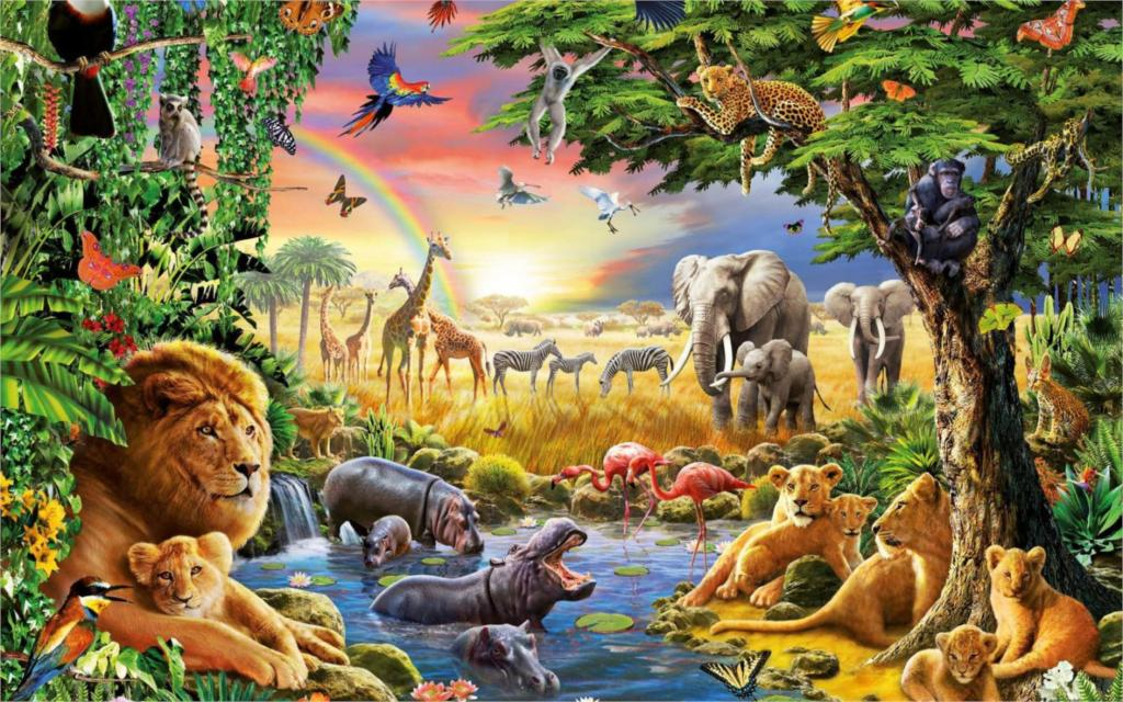 Popular jungle animal fabric buy cheap jungle animal for Classic jungle house for small animals