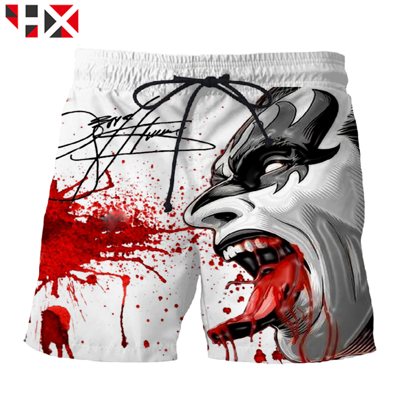 Men's Clothing Trend Mark Hx Summer 3d Printed Hip Hop Men Shorts Kiss Rock Band Unisex Shorts Kiss Band Harajuku Streetwear Short Pants A549