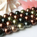 Multiple Colors Mixed Sea Shell Pearl Strand 16 inch,Loose MOP Beads 12MM