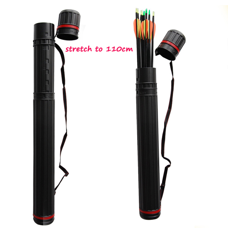 Outdoor Hunting Archery Arrow Quiver Hold 24pcs Arrows with Adjustable Length 25-40 inch shooting Accessories Arrow Tube arrow quiver can hold 24pcs arrows hunting archery quiver compound bow arrow quiver recurve bow arrow bag outdoor shooting
