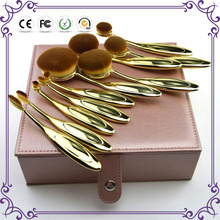 10pcs rose gold toothbrush oval multipurpose makeup brush set best make up brushes