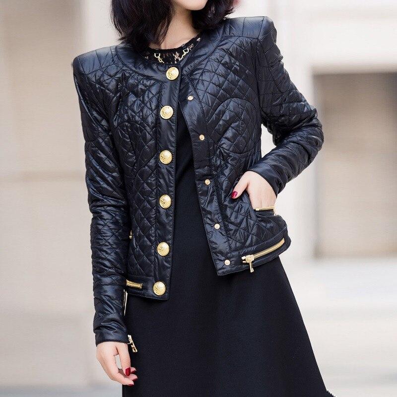Giacca Monopetto Sottile A Manica Cotone Alta Donne Lunga Black S131 2019 Outwear Pista Nero Delle Cappotto Qualità Di Marca FwtqOzF