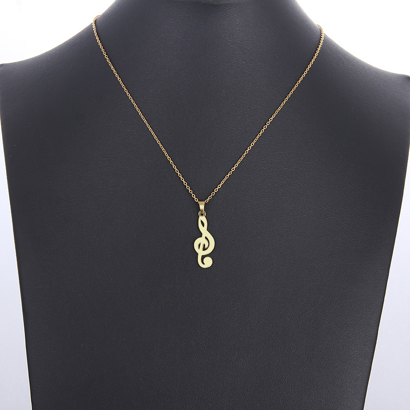 HTB170z6mr5YBuNjSspoq6zeNFXaT - CACANA Stainless Steel Necklace For Women Man Lover's Music Gold And Silver Color Pendant Necklace Engagement Jewelry