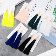 Hot Fashion Vintage Earrings For Women Jewelry Earrings Ancient Long Tassel Drop Earrings Dangle 6 Color Gift