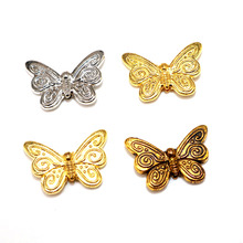 Wholesale Tibetan Silver  Butterfly Animal Beads Spacer Original Charm Charms Sparkling Fit Bracelet Necklace DIY
