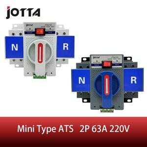Автоматический выключатель MCB, 2P 63A 220 В/110 В, Белый/Синий, двойной выключатель питания, номинальное напряжение ATS 220 В/380 В, номинальная частота ...