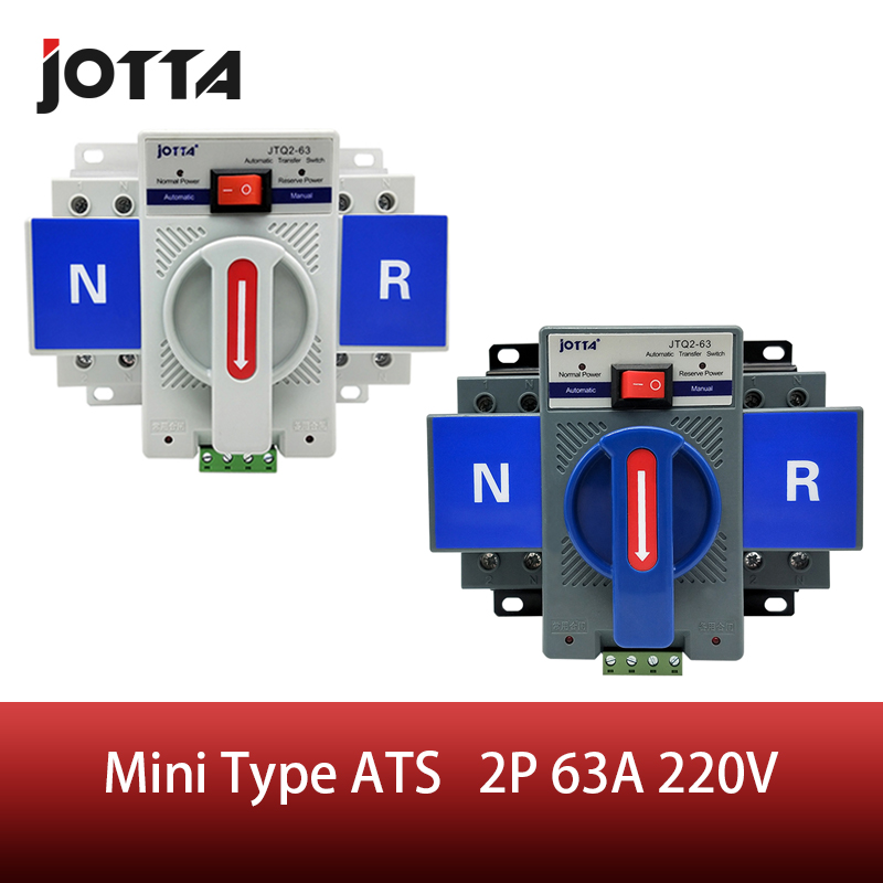 2 p 63a 230 v mcb tipo branco/azul dupla potência interruptor de transferência automático ats tensão avaliado 220 v/380 v frequência avaliado 50/60 hz