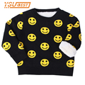 2017 New Baby Girl Boy Clothes Smiling Face Warm Sweater Children Toddler 1-5Yrs Kids Winter Autumn Wool Pullover Knit Loose Top