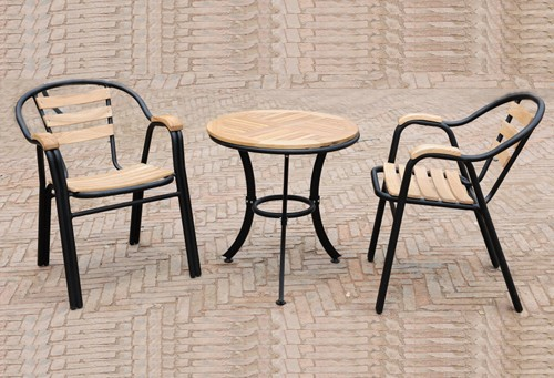 Outdoor Furniture Terrace Chair IKEA Wood Furniture, Wrought Iron Patio  Table And Chairs Solid Wood