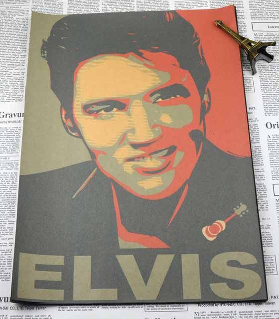 Vintage Poster Elvis Presley Retro Decorative Painting Bar Music