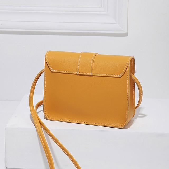 Fashion Small Crossbody Bags for Women 2019 Mini PU Leather Shoulder Messenger Bag for Girl Yellow Bolsas Ladies Phone Purse 3