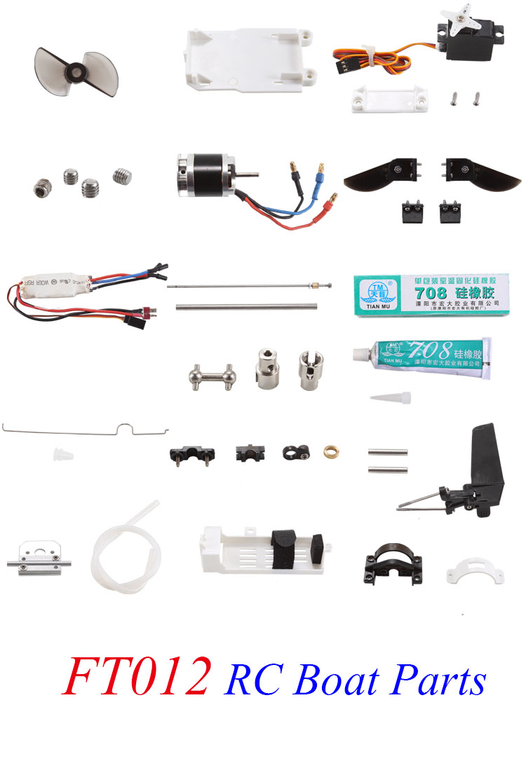 FEILUN FT012 Racing Boat Spare Parts Steering Servo/Motor/Propeller Screw/Speed Controller/Shaft/Universal Joint/Steering Rod 4mm rc boat shaft assembly set motor diver shaft 3 blades propeller shaft sleeves bullet nuts universal joint coupling
