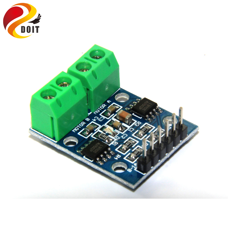 Original DOIT L9110S L9110 Two Motor Driven Module L9110S DC Stepper Motor Driver Board H Bridge L9110 diy rc toy smart car l9110s dc motor stepper motor drive board irf520 driver module for arduino red blue