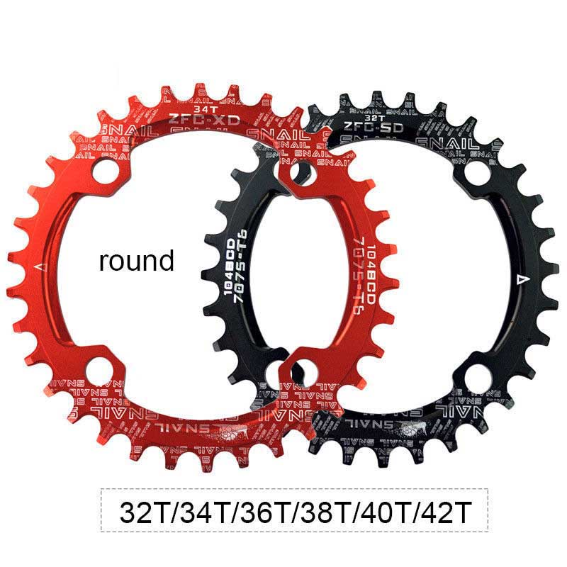 104BCD 32-38T MTB MOUNTAIN BIKE BICYCLE ROUND//OVAL NARROW WIDE CHAINRING Wonder