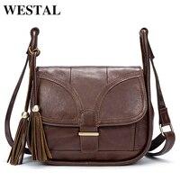 WESTAL Vintage Shoulder Bag Women Bags Genuine Leather Bag Messenger Leather Women Corssbody Bags For Woman